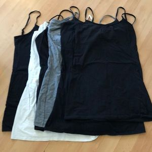 6 tank tops with elastic straps